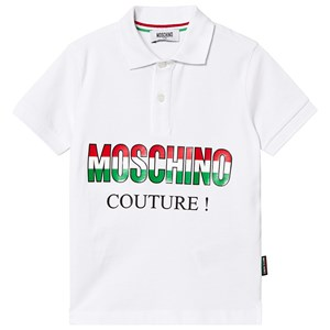 Image of Moschino Kid-Teen White Moschino Couture Pique Polo 14 years (3125283955)