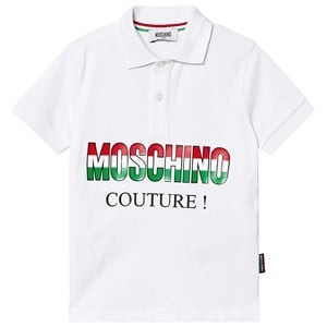 Image of Moschino Kid-Teen White Moschino Couture Pique Polo 8 years (3125283945)