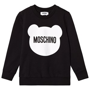 Image of Moschino Kid-Teen Black Bear Branded Sweatshirt 10 years (3125281903)