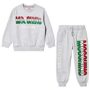 Image of Moschino Kid-Teen Grey Moschino Couture Tracksuit 6 years (3125281919)