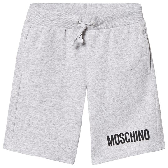 Moschino Kid-Teen Grey Branded Sweat Shorts 60901