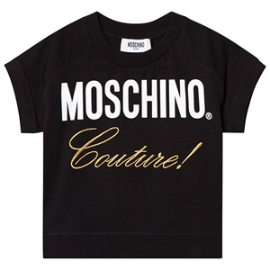 Image of Moschino Kid-Teen Black Moschino Couture Embroidered Tee 12 years (3125301955)