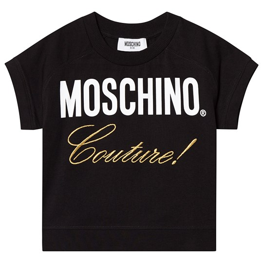 Moschino Kid-Teen Black Moschino Couture Embroidered Tee 60100