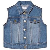 7365c8fbb Moschino Kid-Teen Blue Bear and Branded Back Denim Vest 40613