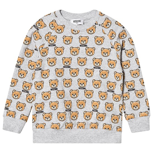 Moschino Kid-Teen Grey All Over Bear Print Sweatshirt 84008