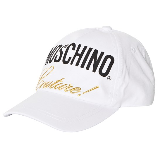 Moschino Kid-Teen White Moschino Couture Branded Cap 10101