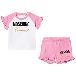 Image of Moschino Kid-Teen Pink Moschino Couture Frill Tee and Shorts Set 18-24 months (3140442943)