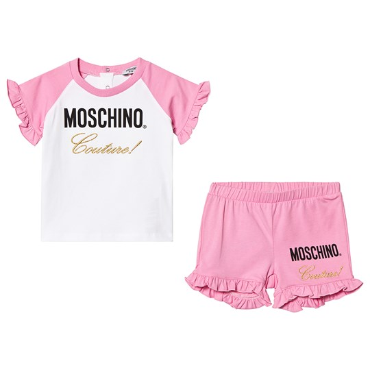 Moschino Kid-Teen Pink Moschino Couture Frill Tee and Shorts Set 84170