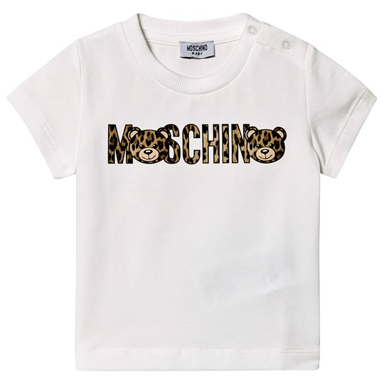 Moschino Kid-Teen White Bear and Leopard Branded Tee 10063