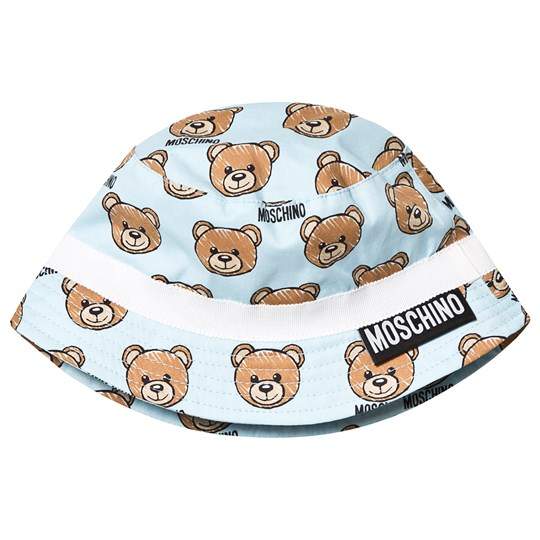 Moschino Kid-Teen Pale Blue Bear Print Sun Hat 84003