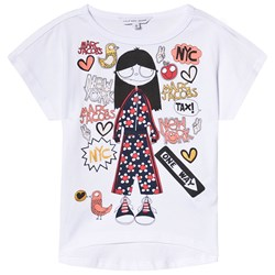 The Marc Jacobs White Miss Marc in NYC Print Tee