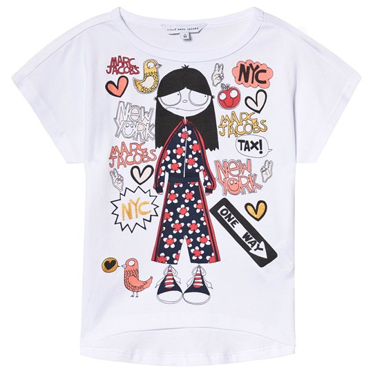 Little Marc Jacobs White Miss Marc in NYC Print Tee A43