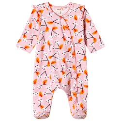 Catimini Pink Cherry Print Footed Baby Body