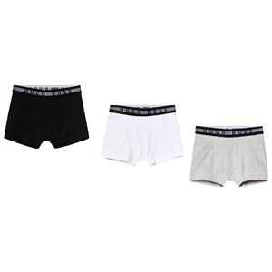 Image of BOSS 3-Pack Branded Boxers Black/Grey/White 10 years (3125285097)