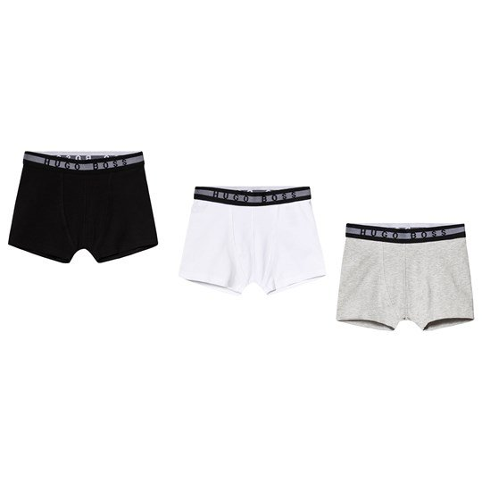 BOSS 3-Pack Branded Boxers Black/Grey/White 09B