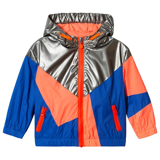 Billybandit Blue and Orange Colorblock Windbreaker Color Description