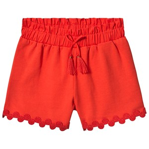 Image of Chloé Red Embroidered Circle Hem Shorts 2 years (3125268017)
