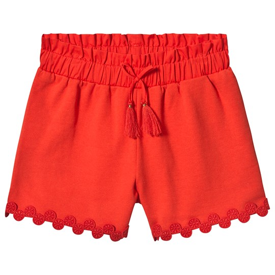 Chloé Red Embroidered Circle Hem Shorts 992