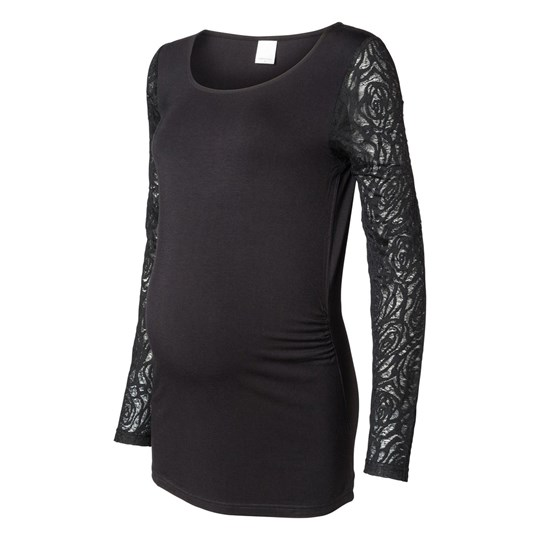 Mamalicious Holly LS Mix Top Black Black