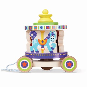 Image of Melissa & Doug Carousel Pull-Along Toy 12 mdr. - 3 år (3125338097)