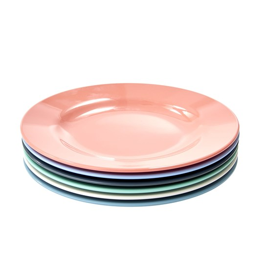 Rice 6-Pack Melamine Side Plates Happy 21 happy colors