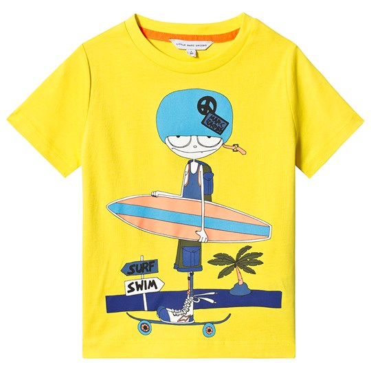 Little Marc Jacobs Yellow Mr Marc Skate & Surf Tee A43