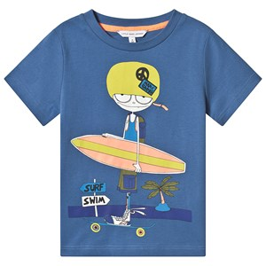 Image of Little Marc Jacobs Blue Mr Marc Skate & Surf Tee 10 years (3125262555)