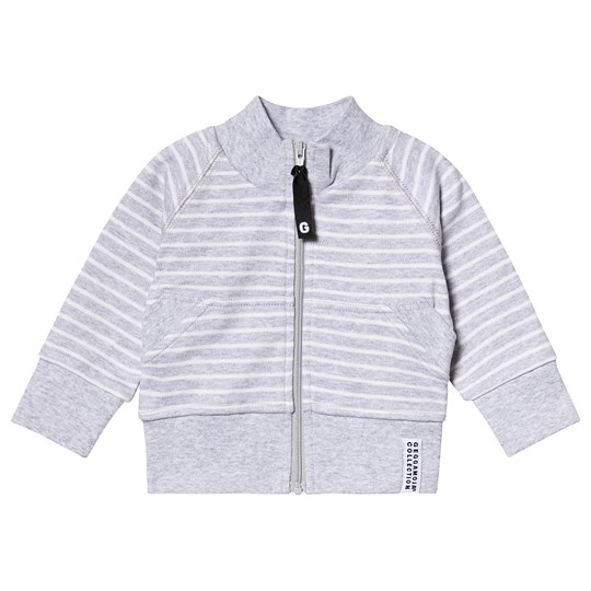 Geggamoja Classic Zip Jacket Light Grey Stripe Light grey stripe