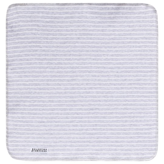 Geggamoja Classic Cuddly Blanket Light Grey Stripe Light grey stripe