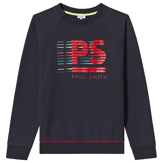 Paul Smith Junior Navy PS Graphic Logo Print Sweater 492