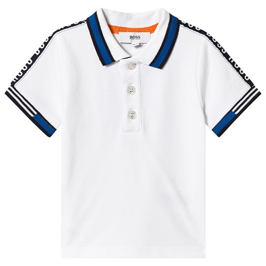 BOSS White Branded Tape Polo 10B