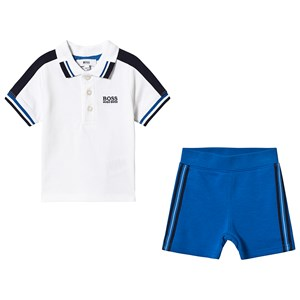 BOSS White Branded Polo and Shorts Set 6 months