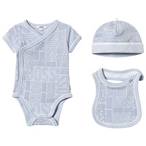 Image of BOSS Allover Branded Layette Set Pale Blue 1 month (3125286277)