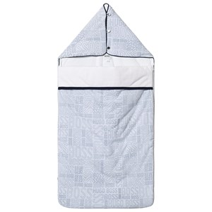 Image of BOSS Pale Blue Allover Branded Sleeping Bag (3125286315)