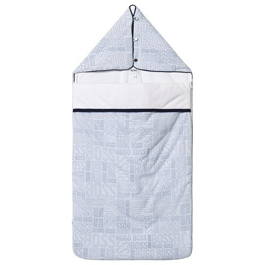 BOSS Pale Blue Allover Branded Sleeping Bag 771