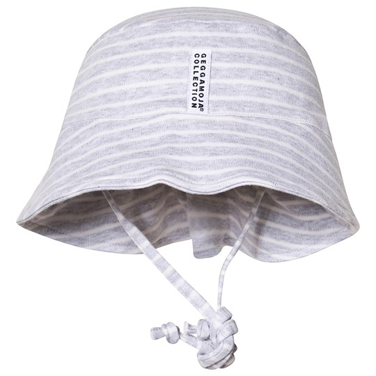 Geggamoja Classic UV Sun Hat Light Grey Stripe Light grey stripe