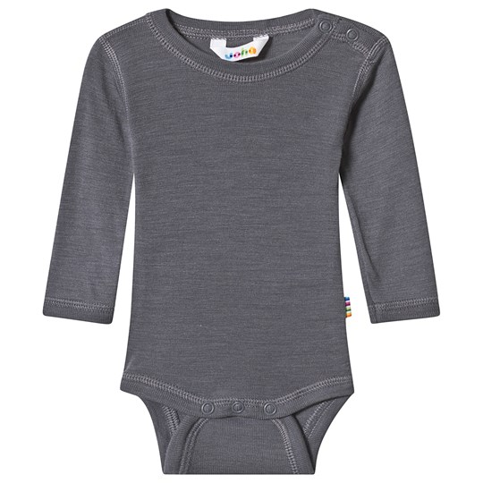 Joha Merino Wool Baby Body Grey Black