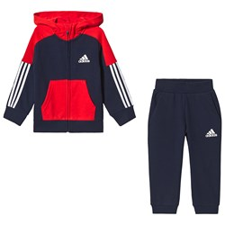 adidas Performance Navy and Red Tracksuit