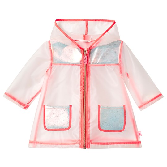 Billieblush Pink Trim Transparent Raincoat