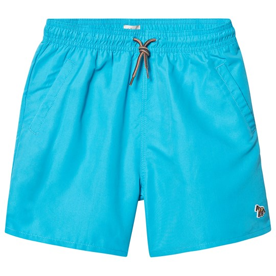 Paul Smith Junior Blue Danube Water Reactive Shark Swim Trunks 430