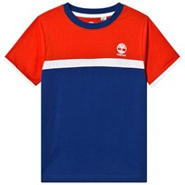 afddeacbd9f1 Timberland Blue and Red Contrast Logo Tee 841