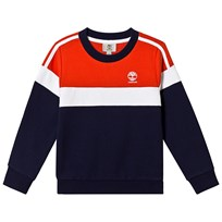 1df53935552e Timberland Blue and Red Contrast Logo Sweatshirt 85T