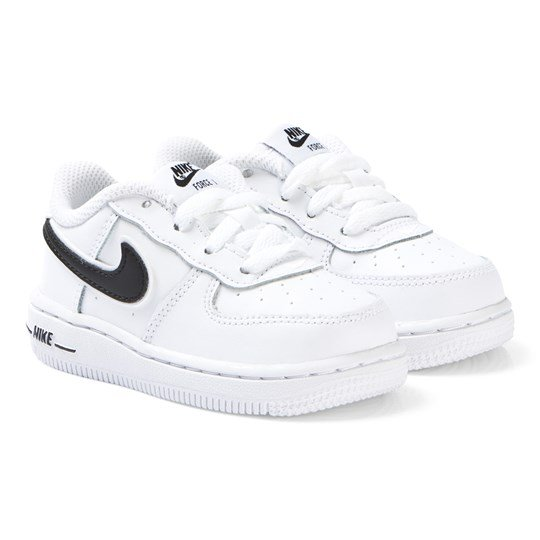 new photos bbff6 a3555 NIKE White Nike Air Force 1-3 Infants Sneakers 100