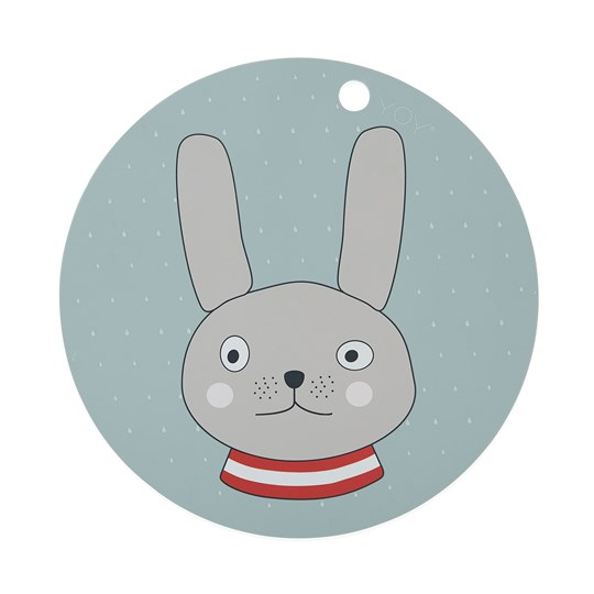 OYOY Rabbit Placemat Minty