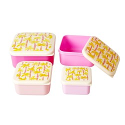 Rice 4-Pack Food Boxes Palm Tree Print