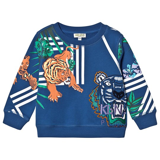 Kenzo Blue Tiger Friends Logo Sweatshirt 47