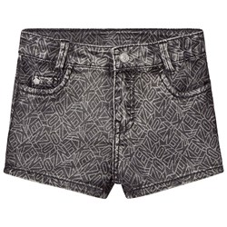Kenzo Black Acid Wash Denim Shorts