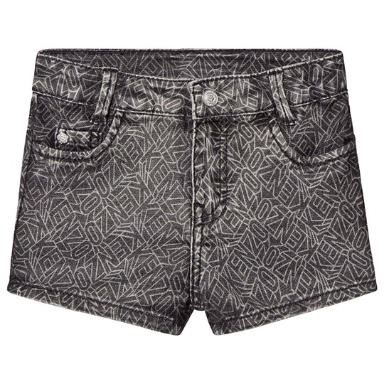 Kenzo Black Acid Wash Denim Shorts 29