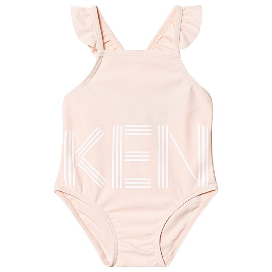 Kenzo Pale Pink Logo Frill Swimsuit 32
