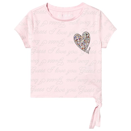 Guess Pink All Over Guess print Tee P427